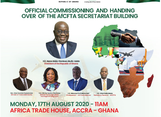 Commissioning and Handing Over of the AfCFTA