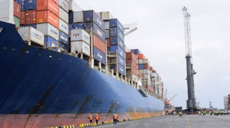 Largest Container Vessel docks in Nigeria Port