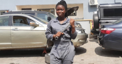 Ghanaian Lady in Automobile