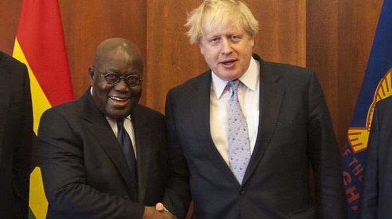 Nana Addo and Boris Johnson