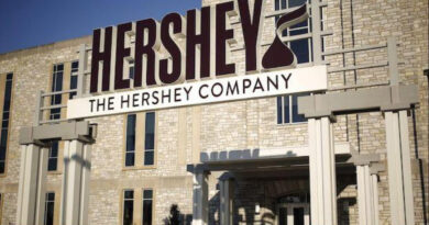 The stock of Hershey Co. fell on Wednesday, underperforming the market.